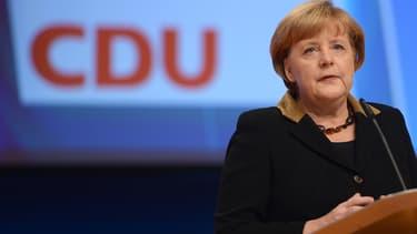 Angela Merkel le 4 décembre 2012 lors de sa réélection à la tête de la CDU.