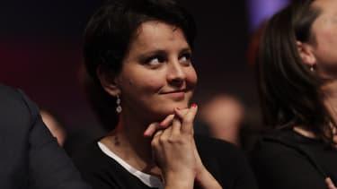 Najat Vallaud-Belkacem lors du congrès du Parti socialiste à Aubervilliers, le 8 avril 2018