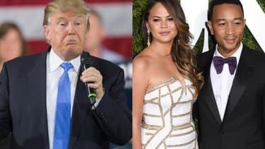 Donald Trump, Chrissy Teigen et John Legend