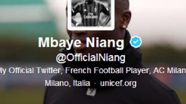 Le compte Twitter de Mbaye Niang