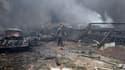 Le centre-ville de Damas, après un attentat-suicide meurtrier, le 8 avril 2013.