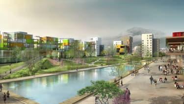Des réductions de 50 % de la consommation d'énergie ont été réalisés dans l'éco-quartier de Bonne à Grenoble