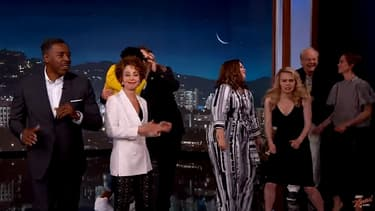 """Les acteurs de """"SOS Fantômes"""" et de son reboot réunis dans l'émission de Jimmy Kimmel"""