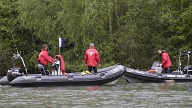 Les recherches pour retrouver Marcus à Butry-sur-Oise le 25 avril 2015.