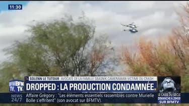 """La production de Dropped condamnée, """"ça reconnaît qu'elle est responsable"""" affirme l'avocate de la famille du caméraman"""
