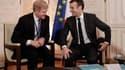 David Scott Taylor, patron de Procter and Gamble avec Emmanuel Macron, ce 21 janvier, à Versailles.