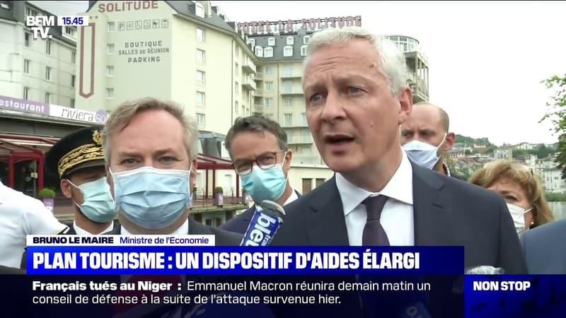 """Bruno Le Maire: certains secteurs d'activités """"pourront bénéficier du plan tourisme"""" comprenant la prolongation du chômage partie"""