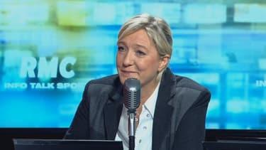 Marine Le Pen, ce lundi sur RMC et RMC Découverte