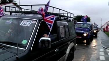 """Partisans du """"oui"""" au référendum à Port-Stanley, aux Malouines, samedi."""