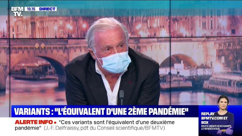 """Jean-François Delfraissy: """"La course se situe entre l'arrivée des variants et notre capacité à vacciner"""""""