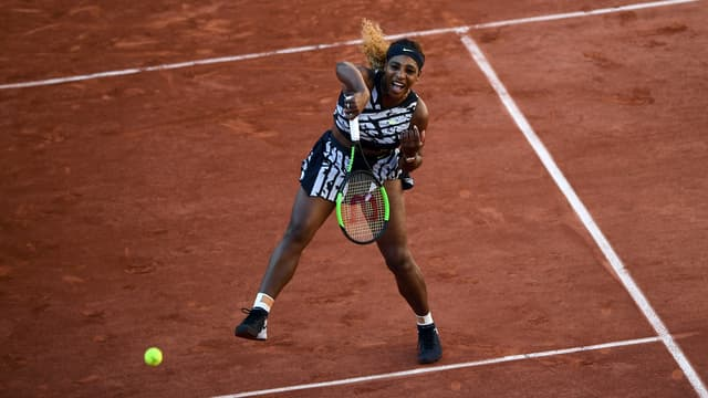 Serena Williams à Roland-Garros, le 1er juin 2019