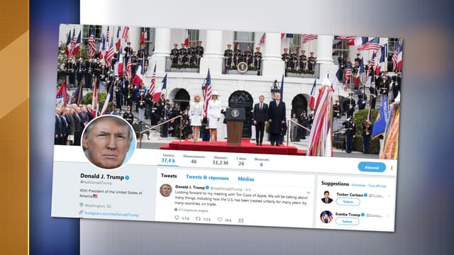Le compte Twitter de Donald Trump.