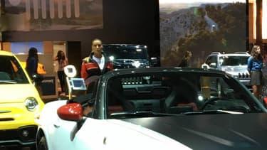 La Fiat 124 Spider en version Abarth au Mondial de l'Automobile.