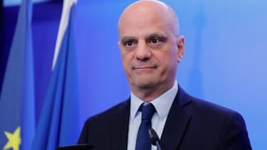 Jean-Michel Blanquer, ministre de l'Éducation nationale, en conférence de presse le 14 mars 2020.