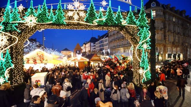 L'ouverture du marché de Noël de Strasbourg, le 29 novembre 2008 (photo d'illustration)