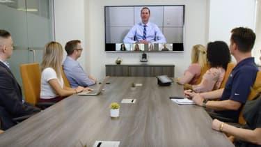 Image d'illustration d'une réunion par a plateforme Zoom