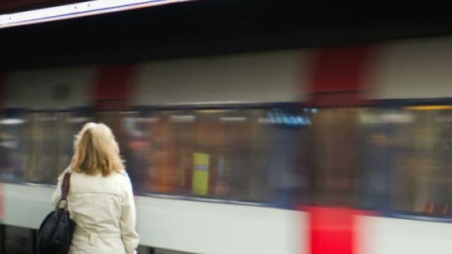 Le RER à la station Auber, à Paris. (photo d'illustration)