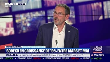 Denis Machuel (Sodexo) : Sodexo en croissance de 19% entre mars et mai - 02/07