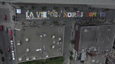 La vie des noirs compte: une fresque géante peinte à Montréal