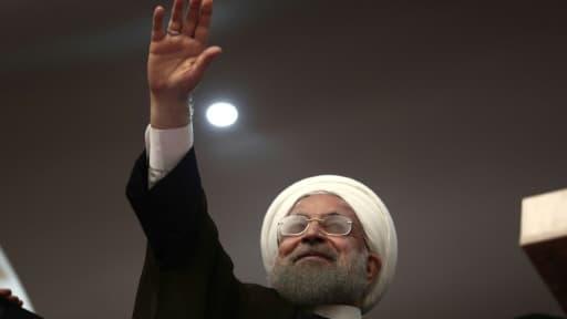 Le président iranien Hassan Rouhani à Ardabil en Iran le 17 mai 2017
