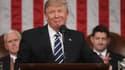 Le 45e président américain, Donald Trump, s'exprimant devant le Congrès.