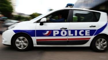 Une voiture de police le 31 mai 2017 à Rouen. Photo d'illustration.