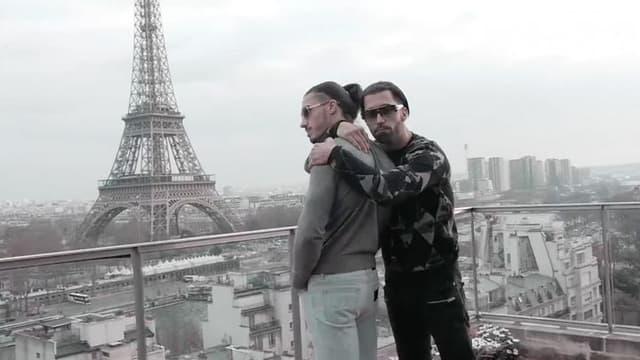 Les frères Ademo et N.O.S, membres de PNL, dans le clip DA.