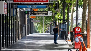 Une rue d'Adélaïde déserte après la mise en place du confinement mercredi.