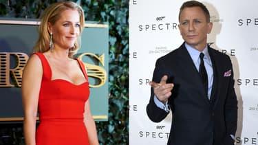Gillian Anderson va-t-elle prendre la place de Daniel Craig dans la saga James Bond?