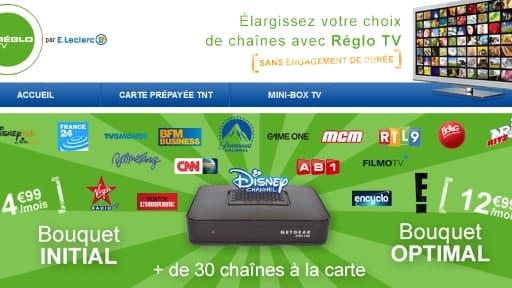 Reglo TV permet d'avoir accès via internet a un bouquet de 65 chaînes de télévision.