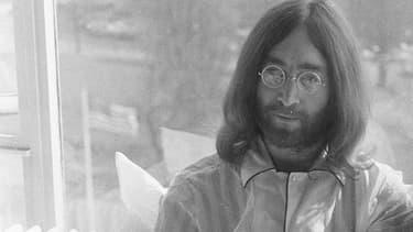 John Lennon en 1969 à Amsterdam.
