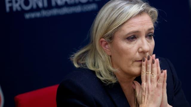 Marine Le Pen était au Palais de justice de Paris ce vendredi matin.