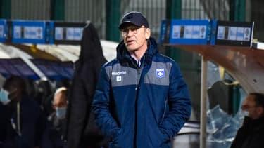 Jean-Marc Furlan lors du match de Ligue 2 entre Chambly et Auxerre