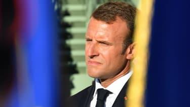 Emmanuel Macron le 17 août 2018 à Bormes-les-Mimosas