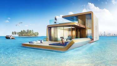 Ces villas sur trois niveaux en partie immergées seront habitables d'ici la fin de l'année 2016.