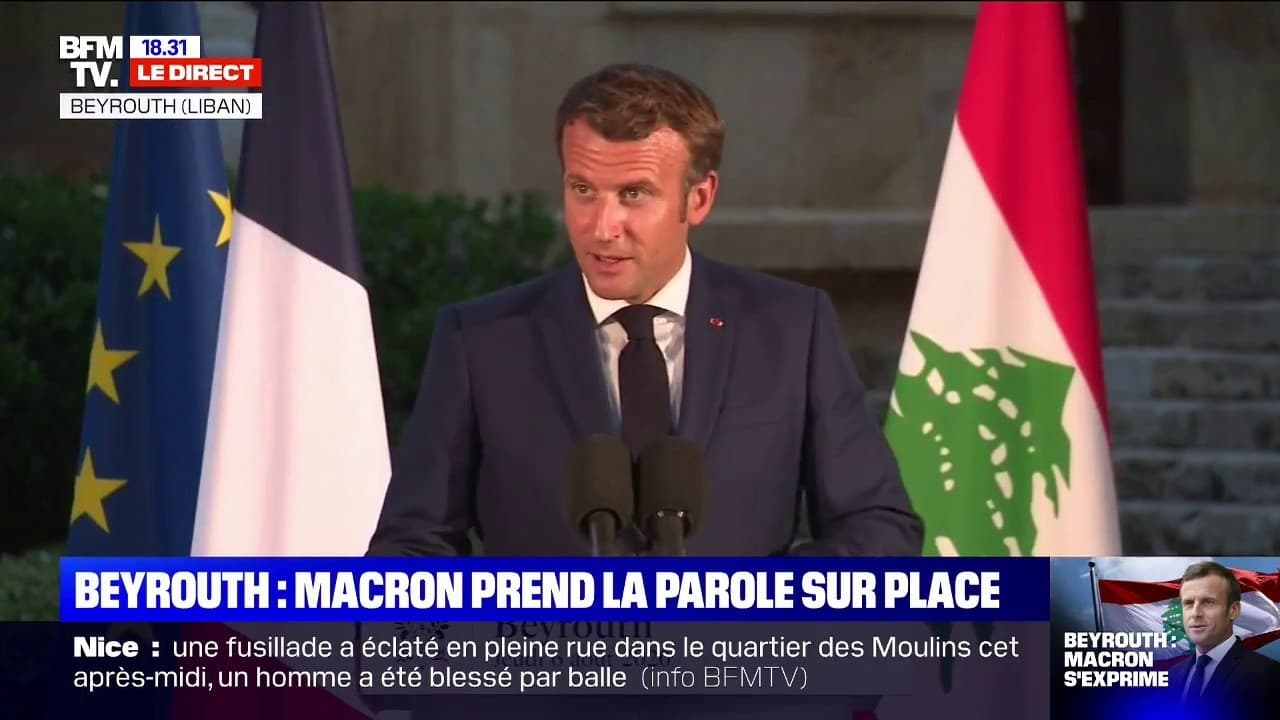 """Emmanuel Macron au Liban: """"Je ressens une infinie tristesse"""""""