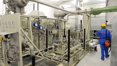 Captage et stockage du CO2 sur le site de Rousse : compresseur.