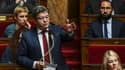 Jean-Luc Mélenchon à l'Assemblée nationale le 18 octobre 2017.