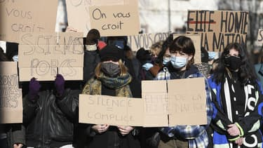 Manifestation ce vendredi 12 février devant l'Institut d'études politiques de Strasbourg.