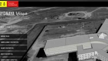 reconstitution en 3D de la prison militaire de Saidnaya en Syrie