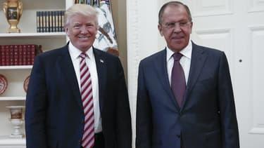 Donald Trump et Sergei Lavrov à la Maison Blanche, le 10 mai 2017