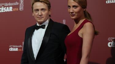 Benoît Magimel et Margot Pelletier aux César 2016