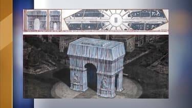 L'Arc de Triomphe va être recouvert de 25.000 m2 de tissu.