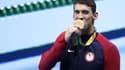 Michael Phelps avec sa 19e médaille d'or aux JO