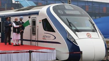 Le Vande Bharat Express, inauguré vendredi par le Premier ministre Narendra Modi.