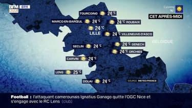 Une très belle journée et des températures en hausse dans la région lilloise, jusqu'à 24°C