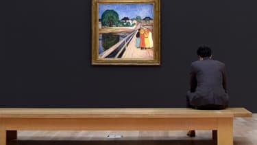 """""""Filles sur le pont"""", de Munch."""
