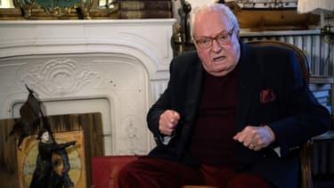 Jean-Marie Le Pen dans sa maison de Saint-Cloud le 9 janvier 2019.