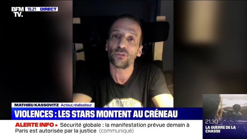 """Mathieu Kassovitz à propos du producteur frappé par des policiers: """"J'ai fait un film pour dire 'jusqu'ici tout va bien', en voyant cette vidéo je ne le pense plus"""""""