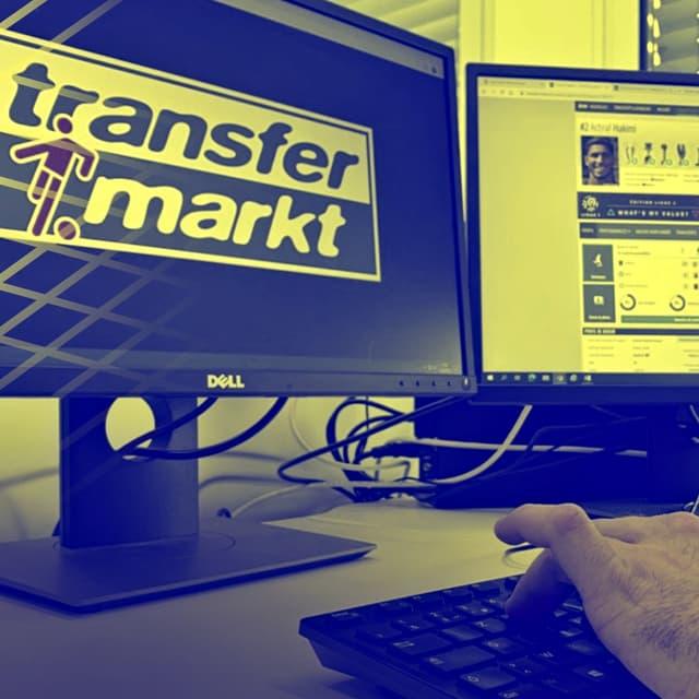 """Un internaute """"surfe"""" sur le site de référence Transfermarkt"""